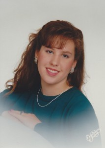 Senior portrait, taken summer of 1992. I think I was wearing Lee Press-On Nails. I also had clearly not been introduced to tweezers.
